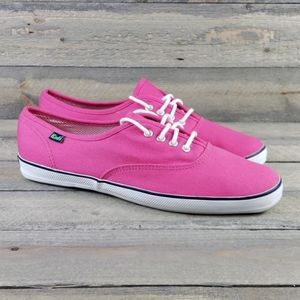 Women's Keds Pink Canvas Sneakers sz 9.5 Cushioned